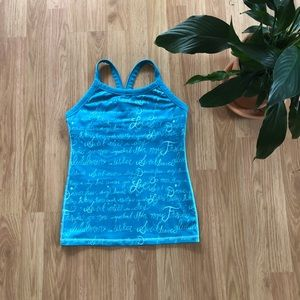 Lululemon ujjayi manifesto power y top Size 6